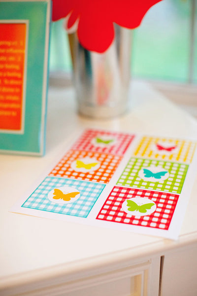 Garden Party Butterfly Tags {UPRINT}