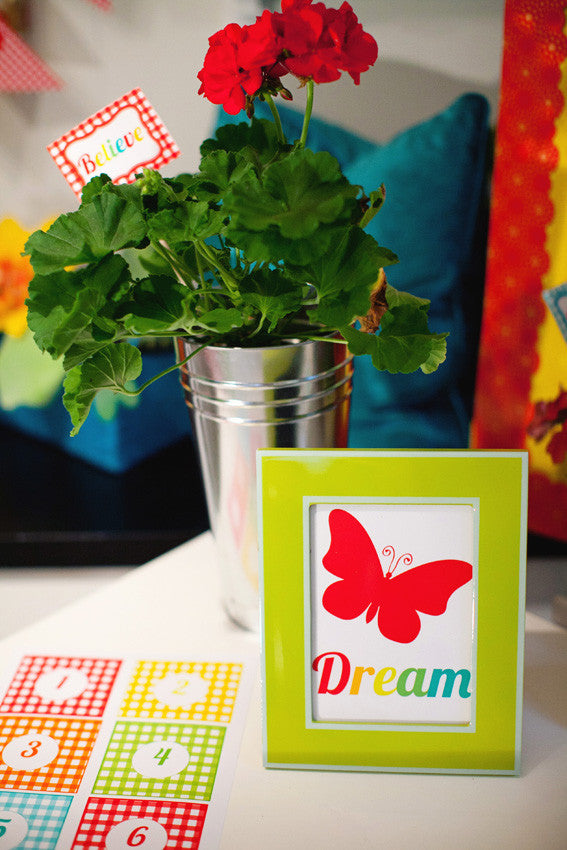 Garden Party Number Tags {UPRINT}