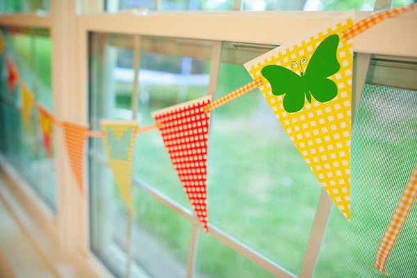Garden Party Mini Pennants {UPRINT}
