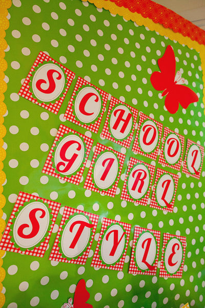 Garden Party Bulletin Board Letters {UPRINT}