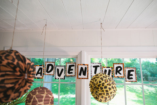 Animal Adventure Banner Letters