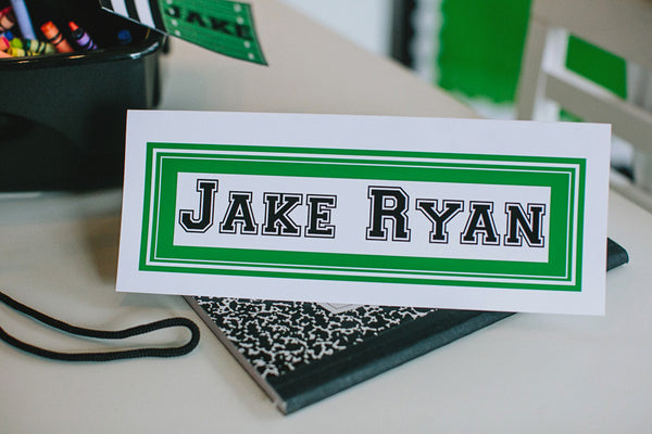 Totally Teamwork Nameplates - Solid Color
