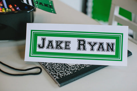 Totally Teamwork Nameplates - Solid Color {UPRINT}