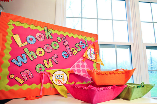 Owl Pennant Banner and Table Signs