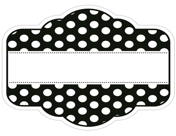Chalkboard & Polka Dot - Fancy Labels