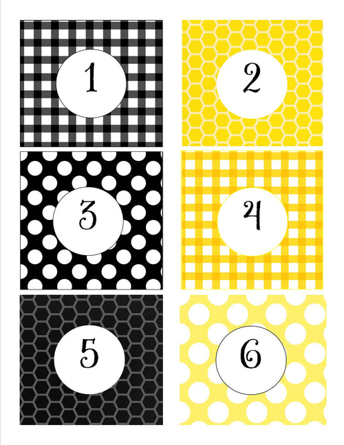 Happy Honeybee Student Number Tags {UPRINT}