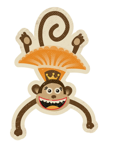 Vintage Circus - Large Monkey Cutouts