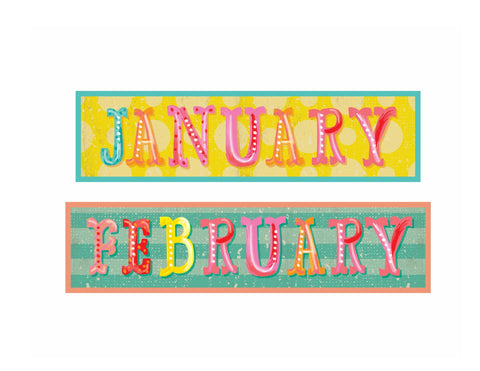 Under the Boardwalk - Calendar Headers {UPRINT}