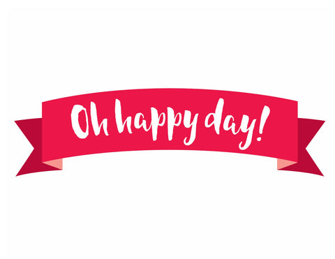 Confetti Crush - Oh Happy Day! Ribbon Banner