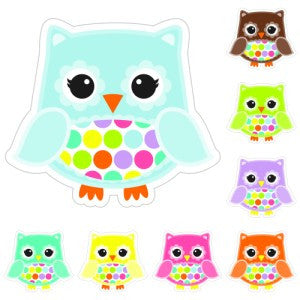 Bright Owl Polka Dot Cut Outs