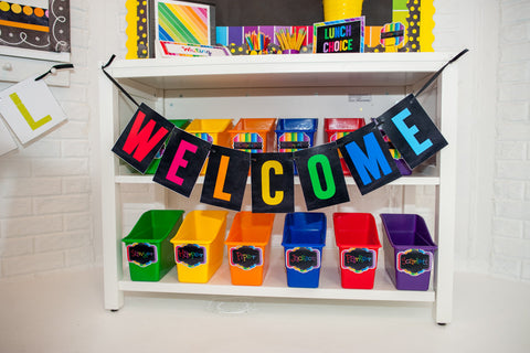 Happy Rainbow Welcome Banner