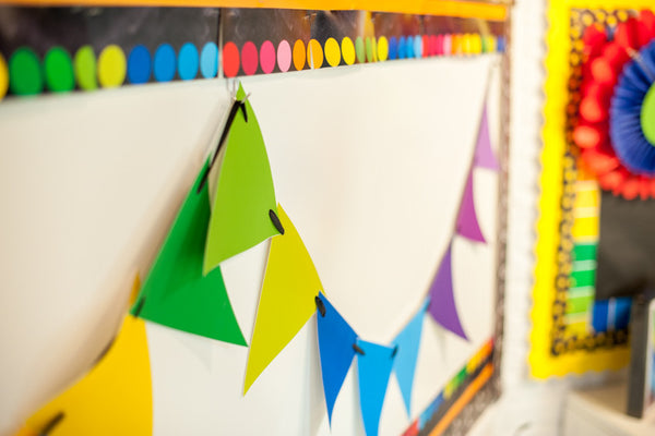 Happy Rainbow Pennant Banner {UPRINT}