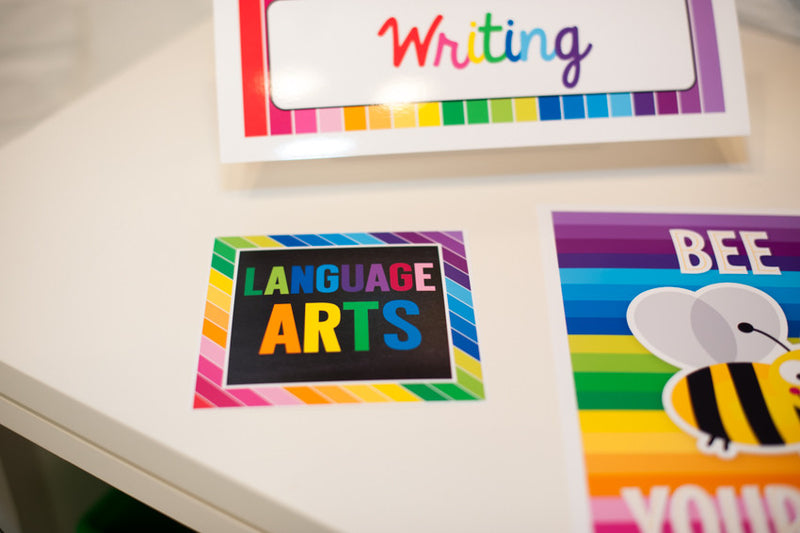 Happy Rainbow Table/Center Signs {UPRINT}