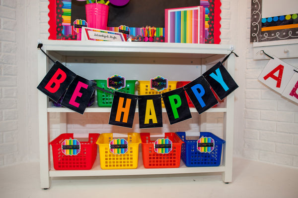"Happy Rainbow ""Be Happy"" Banner"