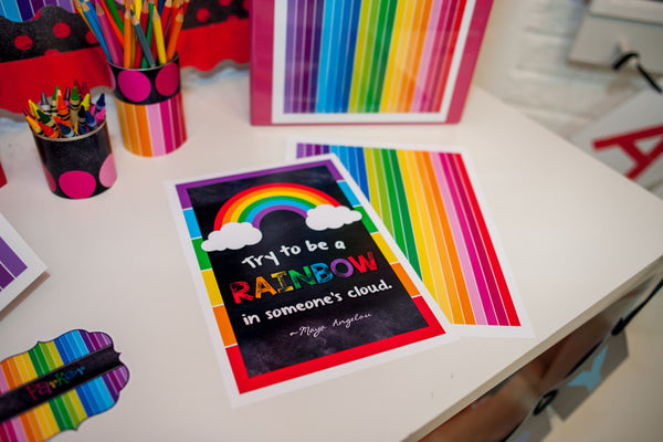 Happy Rainbow Classroom Prints {UPRINT}
