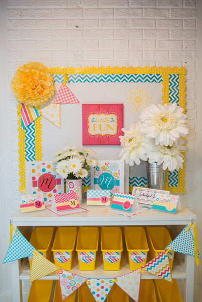 Hello! Sunshine Coral Mini Pennants
