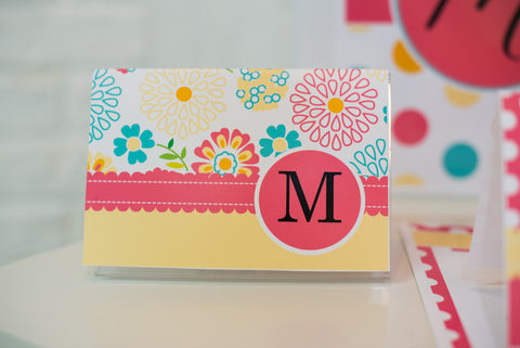 Hello! Sunshine Coral Stationary Set