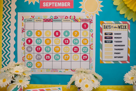 Hello! Sunshine Coral Calendar Set {UPRINT}