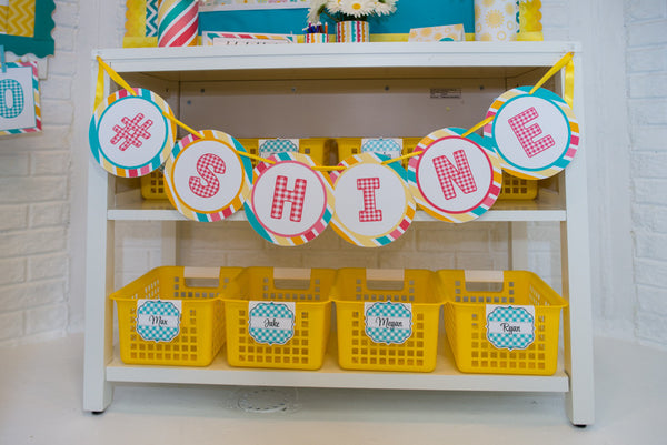 Happy Shine Banner Letters (Circle)