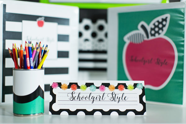 Schoolgirl Style - Black, White & Stylish Brights Full Collection {U PRINT}