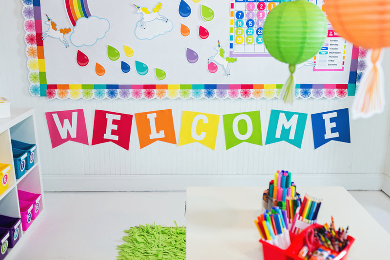 Schoolgirl Style - Hello Sunshine Rainbow - 2 Point - All Letters Banner {U PRINT}