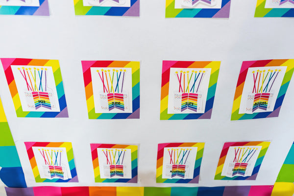 Hello Sunshine Rainbow Birthday Bulletin Board {U PRINT}