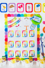 Schoolgirl Style - Hello Sunshine Rainbow Birthday Mini Bulletin Board Set