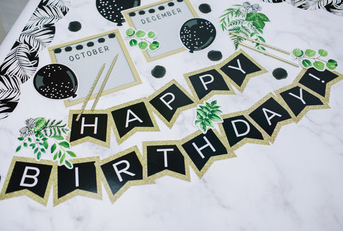 Schoolgirl Style - Simply Boho Birthday Bulletin Board Set