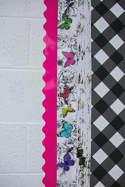 Woodland Whimsy BLACK GINGHAM Border from Schoolgirl Style and Carson-Dellosa