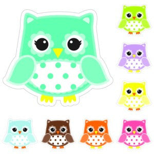 Bright Owls Small Polka Dot Cut Outs