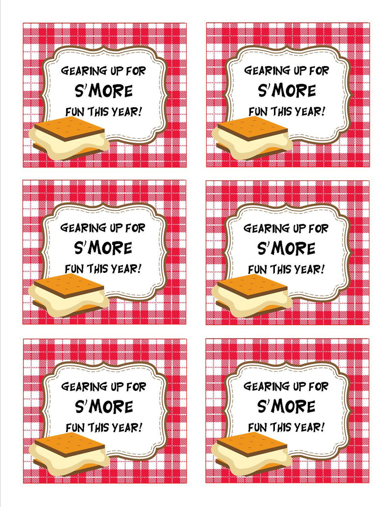Camp Learn-A-Lot S'more Tags