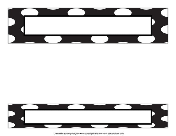 Chalkboard & Polka Dot - Binder Spines {UPRINT}