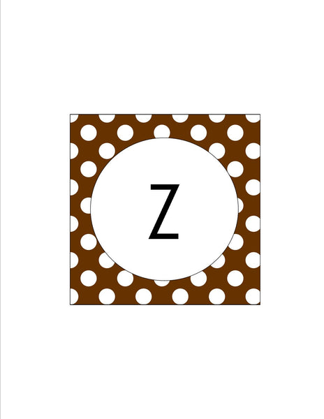 Brown & White Polka Dots