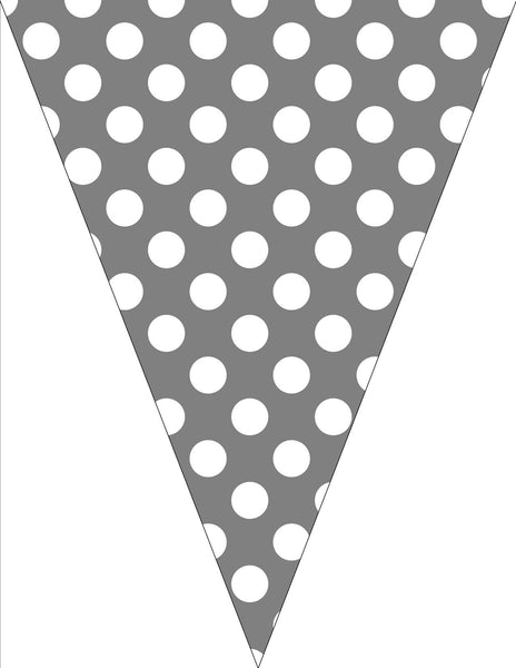Gray & White Polka Dots