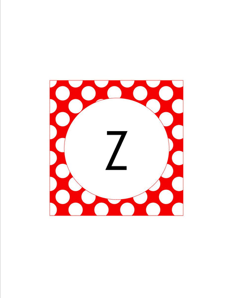 Red & White Polka Dots