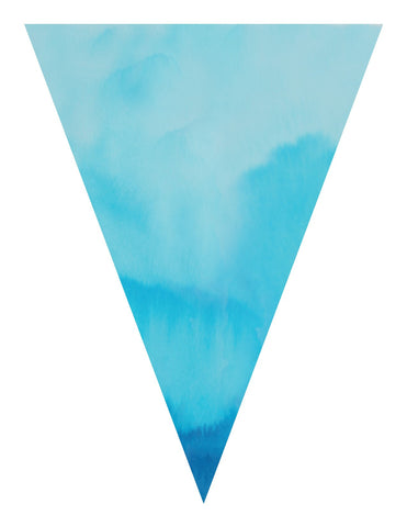 Color My Classroom - Watercolor Pennants