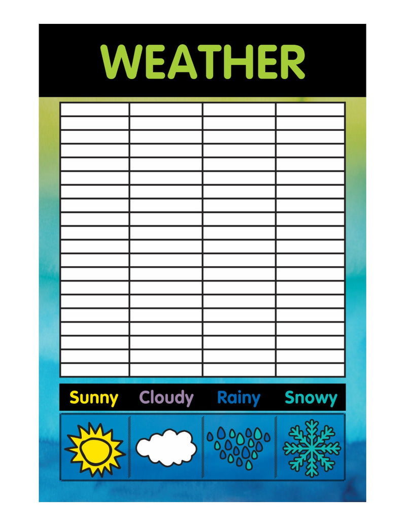 Color My Classroom - Weather Chart {UPRINT}