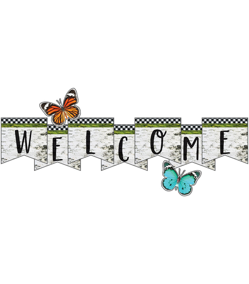 Schoolgirl Style - Woodland Whimsy Welcome Bulletin Board Set