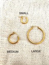 Load image into Gallery viewer, Timeless Beauty 18k Gold Plated Hoops