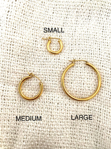 Timeless Beauty 18k Gold Plated Hoops