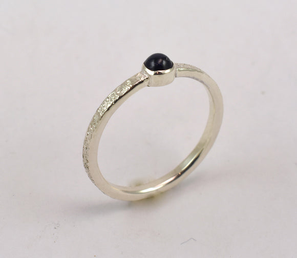 Stardust and Sapphire Ring