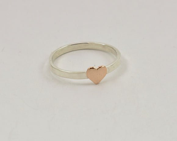 Pink Heart Stacking Ring