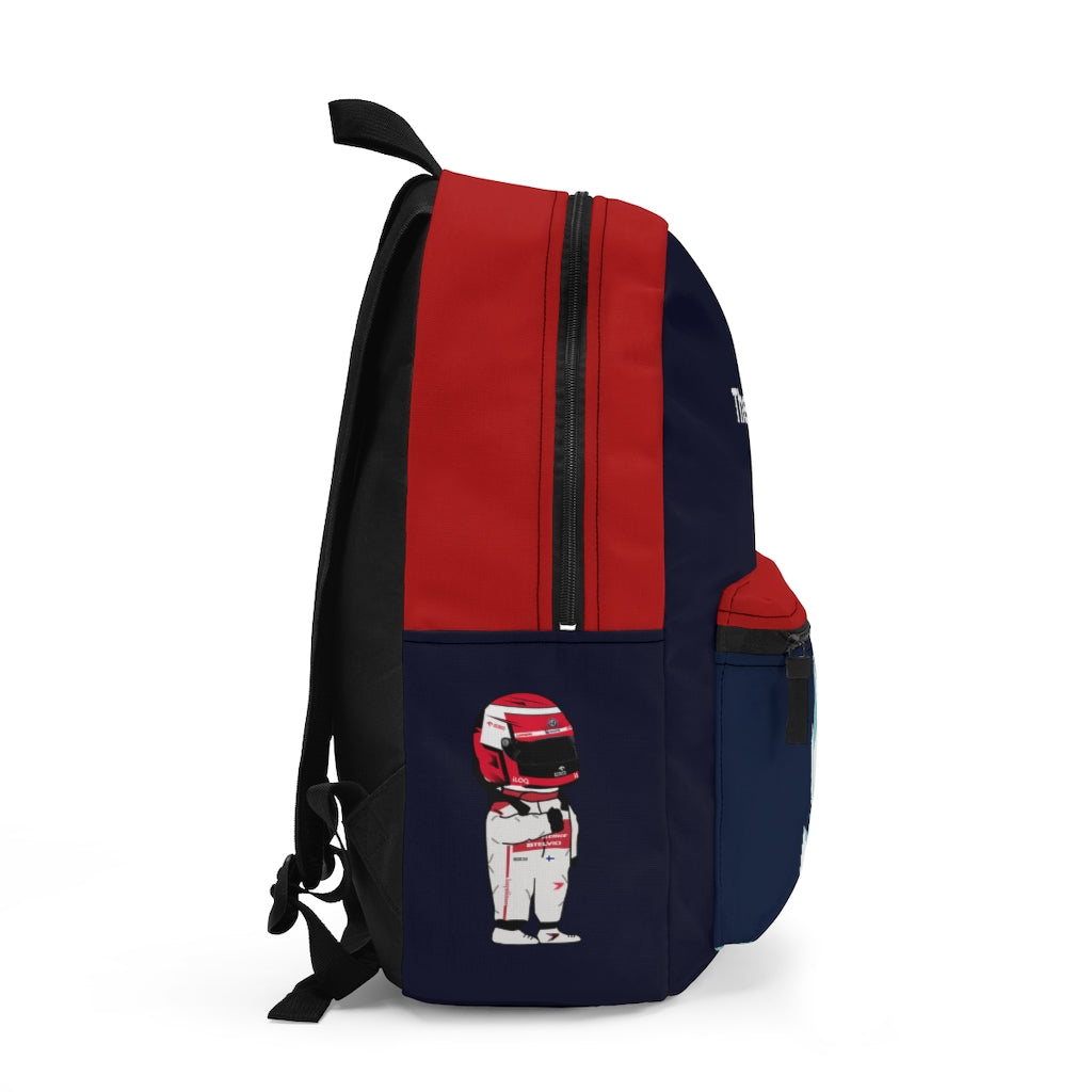 The Iceman Type 2 Backpack - Navy & Red