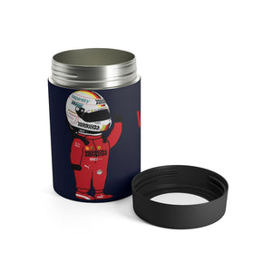 Sebastian Vettel Stainless Steel Beer Can Insulator - Navy
