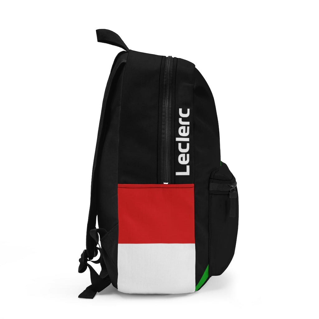 Charles Leclerc Race Suit Type 2 Backpack - Black With Italian Flag