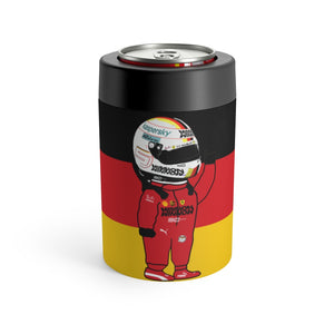 Sebastian Vettel Stainless Steel Beer Can Insulator - German Flag