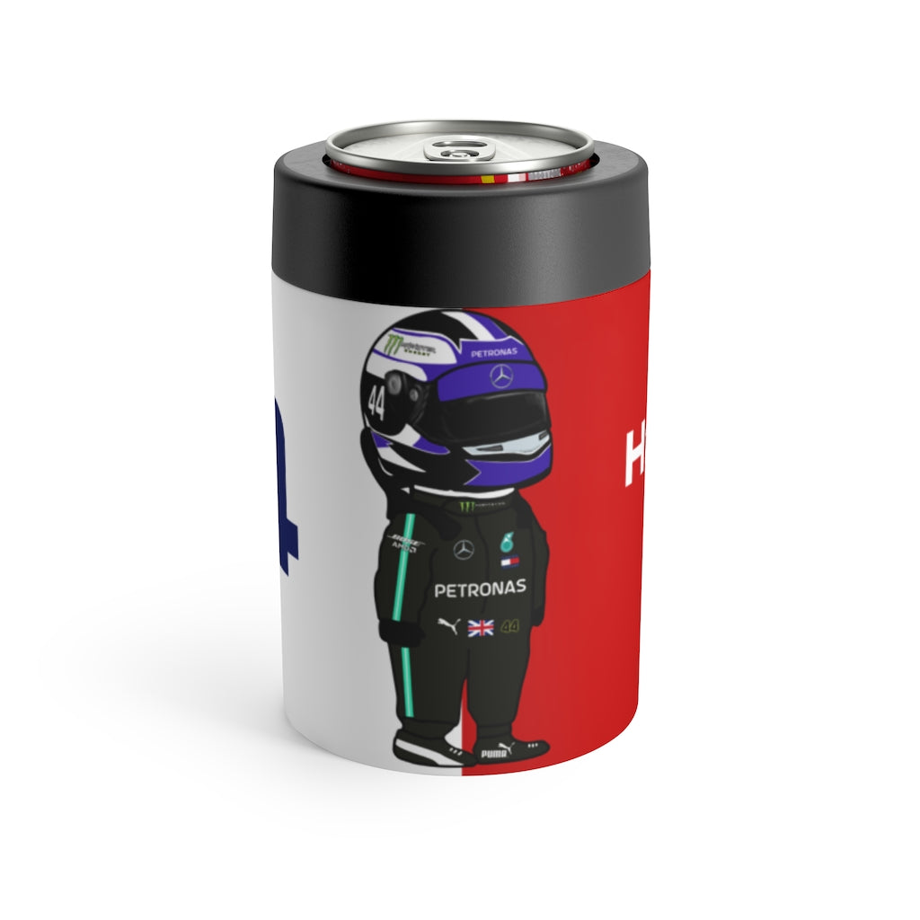 Lewis Hamilton Stainless Steel Beer Can Insulator - Red & White