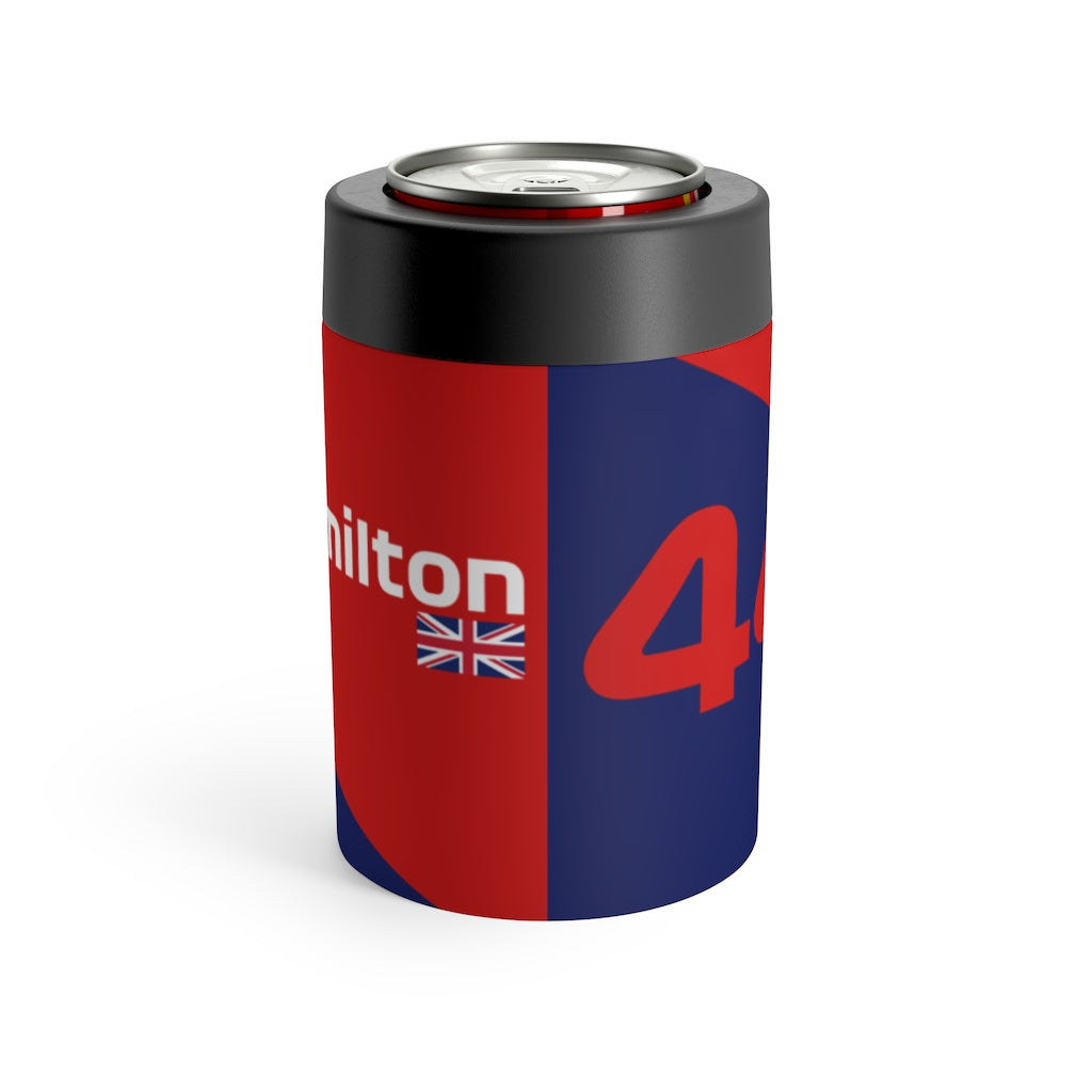 Lewis Hamilton Stainless Steel Beer Can Insulator - Red & Navy