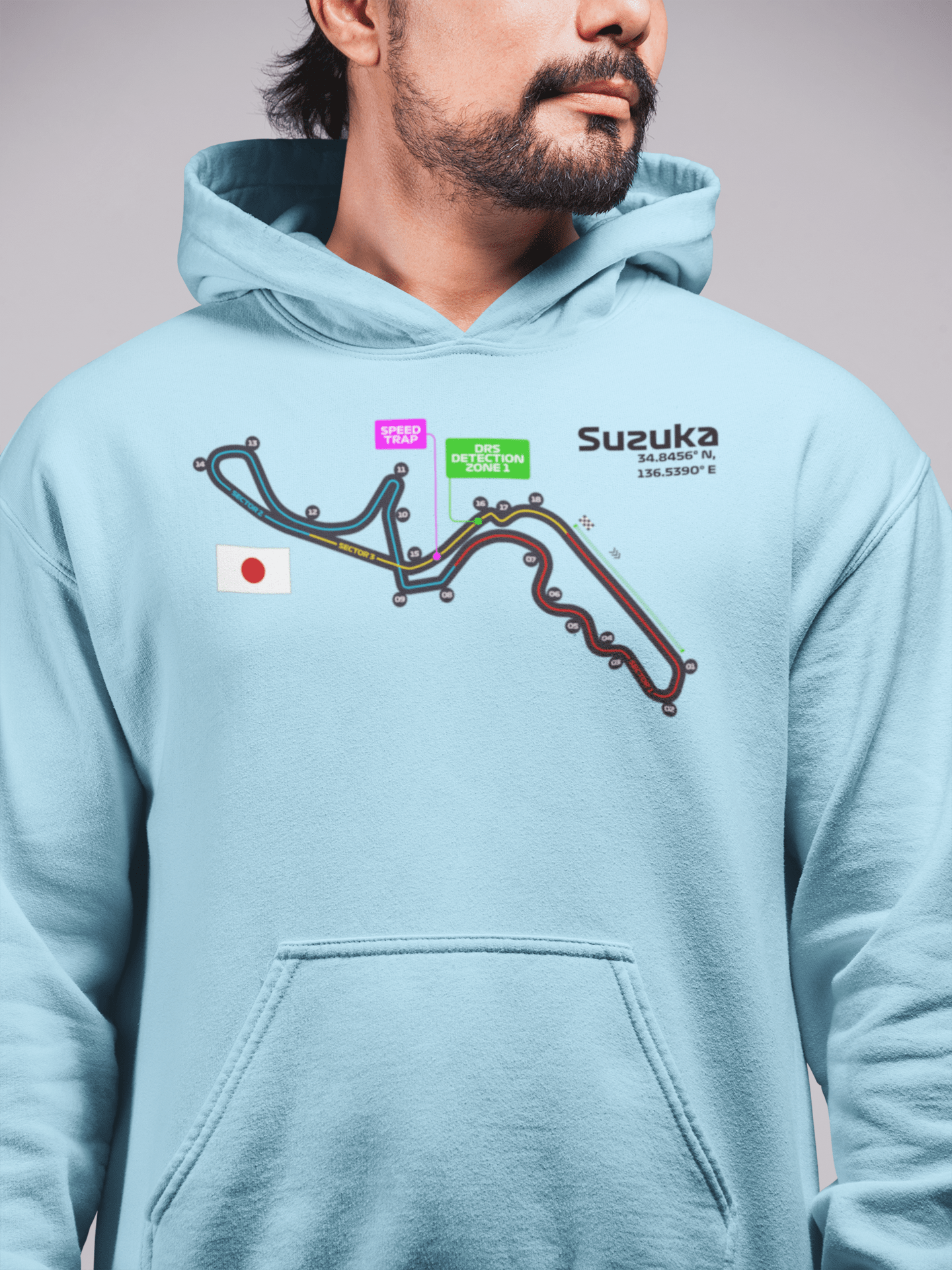 Suzuka Circuit Hooded Sweatshirt