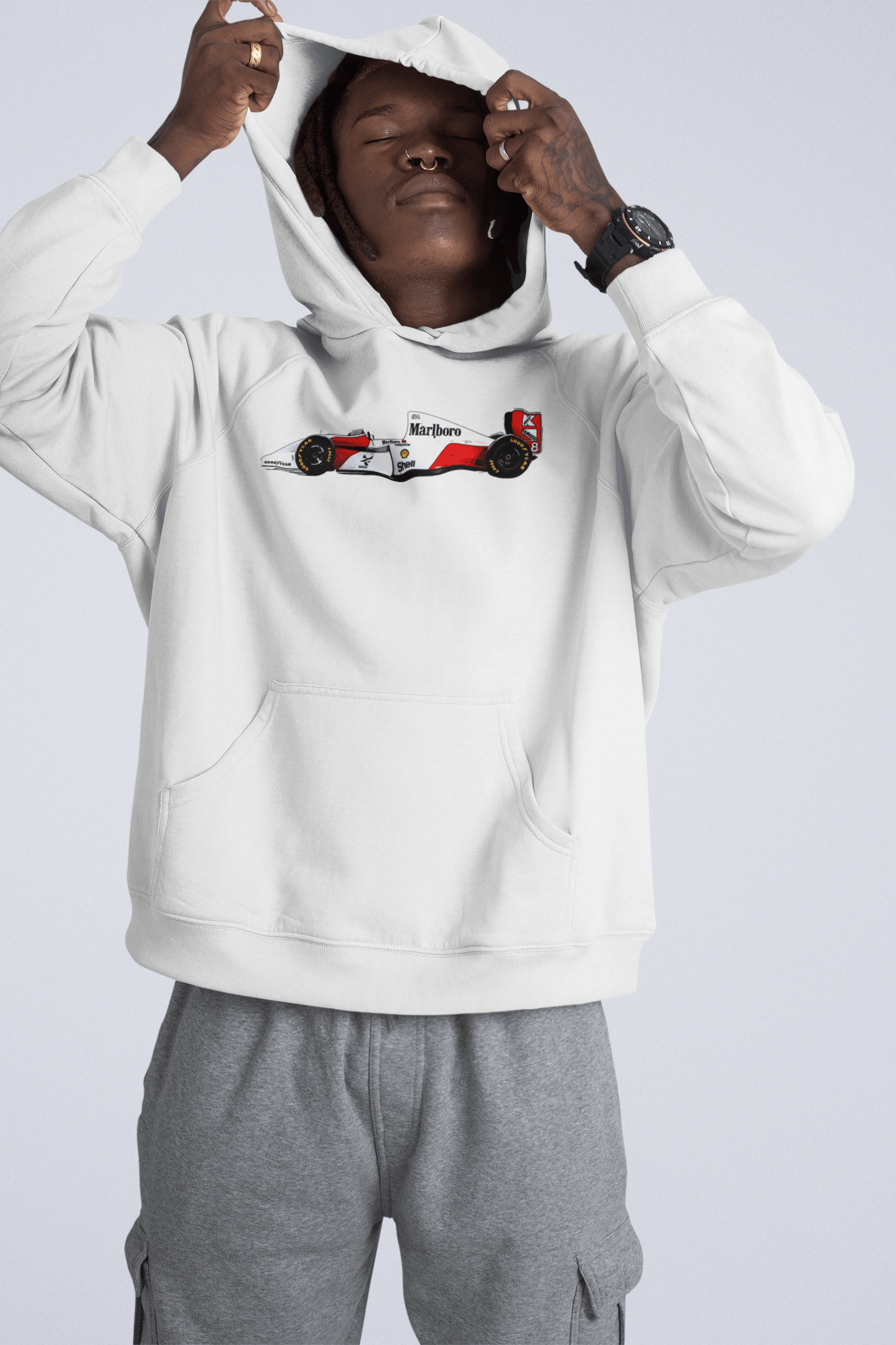 Senna's 1993 McLaren MP4-8 Hooded Sweatshirt